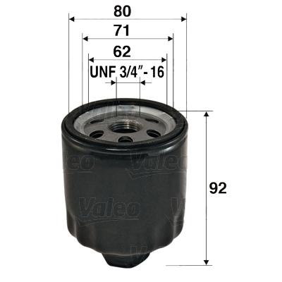 Olejový filter Valeo Service
