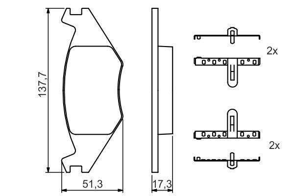 Sada brzdových platničiek kotúčovej brzdy Robert Bosch GmbH