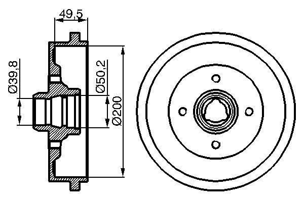 Brzdový bubon Robert Bosch GmbH