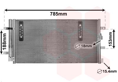Kondenzátor klimatizácie VAN WEZEL