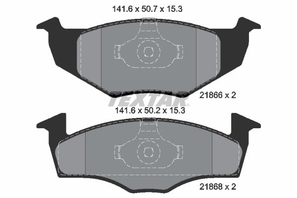 Sada brzdových platničiek kotúčovej brzdy TEXTAR