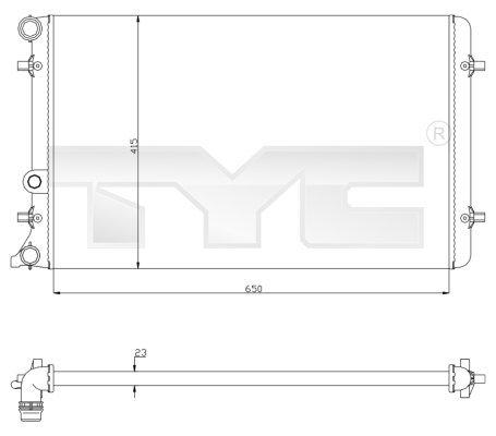 Chladič motora TYC EUROPE B.V.