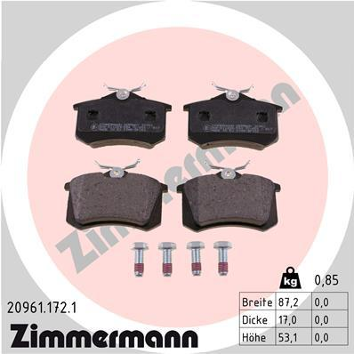 Sada brzdových platničiek kotúčovej brzdy OTTO ZIMMERMANN GMBH