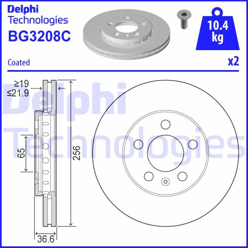 Brzdový kotúč Delphi Technologies Aftermarket