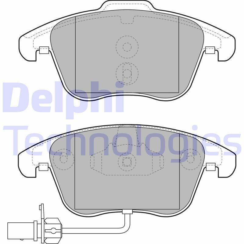 Sada brzdových platničiek kotúčovej brzdy Delphi Technologies Aftermarket