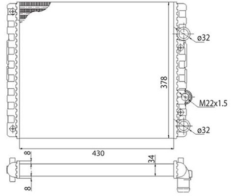 Chladič motora MAGNETI MARELLI