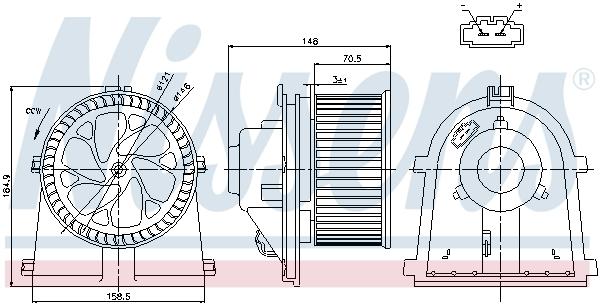 Vnútorný ventilátor NISSENS