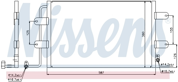 Kondenzátor klimatizácie NISSENS