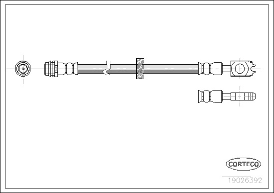 Brzdová hadica CORTECO