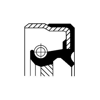 Tesniaci krúżok hriadeľa diferenciálu CORTECO