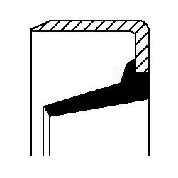 Tesniaci krúżok hriadeľa manuálnej prevodovky CORTECO