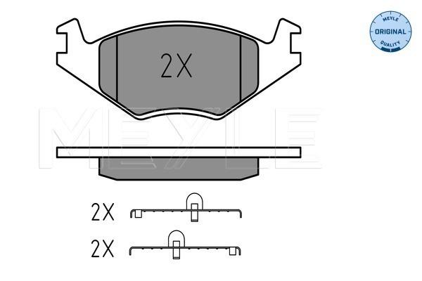 Sada brzdových platničiek kotúčovej brzdy MEYLE (dostupnosť 48 hodín.)