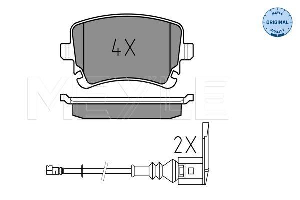 Sada brzdových platničiek kotúčovej brzdy MEYLE AG