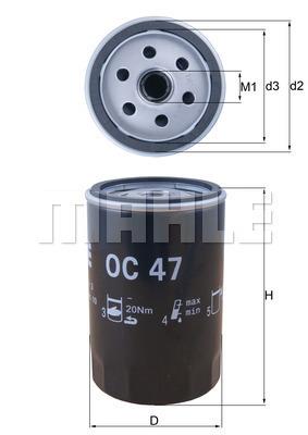 Olejový filter MAHLE Aftermarket GmbH
