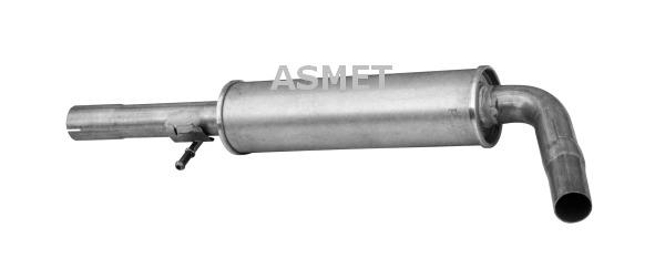 Stredný tlmič výfuku ASMET