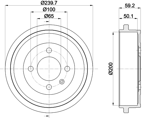 Brzdový bubon Hella Pagid GmbH