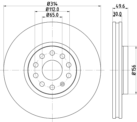 Brzdový kotúč Hella Pagid GmbH