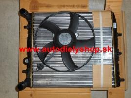 Seat Ibiza 6/02- chladič vody s ventilátorom 1,2i-1,4i
