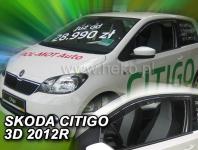 Deflektory ŠKODA CITIGO 3D 2012R.->