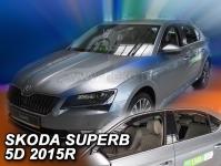 Deflektory Škoda Superb III, od r.2015 (+ZN)