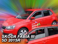 Deflektory Škoda Fabia III Hatchback od 2014r.-->(+zadné ...