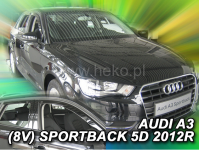 Deflektory AUDI A3 (V8) SPORTBACK 5dv. od 2012r.-->(+ZN)