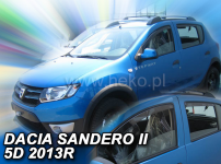 Deflektory DACIA SANDERO / STEPWAY II 5D 2012R-> ...