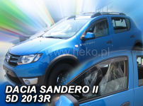 Deflektory DACIA SANDERO / STEPWAY II 5D 2012R->