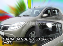 Deflektory DACIA SANDERO / STEPWAY I 5dv. 2008r.--> ...