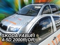 Deflektory ŠKODA FABIA I, 4/5dv. 2000r.→ (+ZN)