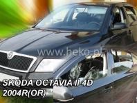Deflektory ŠKODA OCTAVIA II 4D 2004R->(OR)(+ZN) ...