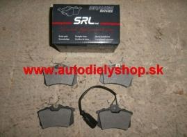 Citroen C3 PICASSO 09- zadné brzdové platničky /SRL/