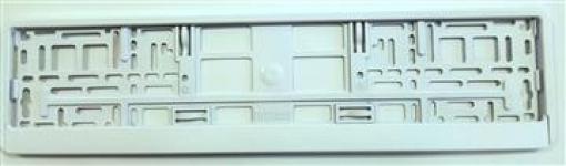 D.Podložka pod ŠPZ-os. auto - 1ks Biela metalíza