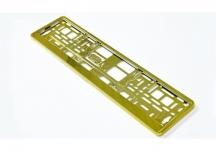 D.Podložka pod ŠPZ-os. auto - 1ks Zlatá metalíza
