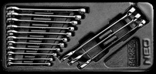 Očko-ploché kľúče sada 14 ks, 6-19 mm