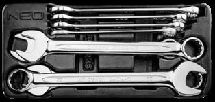 Očko-ploché kľúče sada 8 ks, 20-32 mm