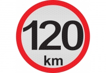 konštrukčná rýchlosť  120 km - reflexná ...