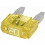 Mini ploché poistky 20A 20ks v balení