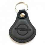 Kožená kľúčenka Opel sivá