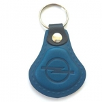 Kožená kľúčenka Opel modrá