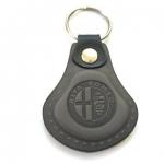 Kožená kľúčenka Alfa Romeo šedá