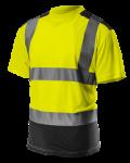 Tričko s vysokou viditeľnosťou, reflexné žlté ...
