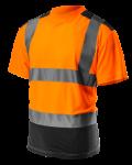 Tričko s vysokou viditeľnosťou, reflexné oranžové ...