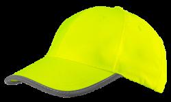 Šiltovka s vysokou viditeľnosťou, žltá