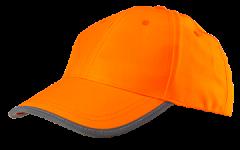 Šiltovka s vysokou viditeľnosťou, oranžová